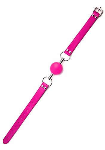 Ouch! Ballknebel an Lederband – rosa