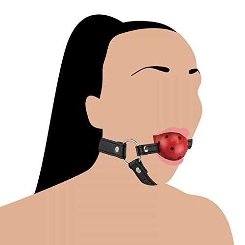Love&Vibes: Kopfgeschirr mit massivem Ballknebel