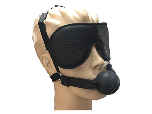 Leder Augenmaske mit Mundknebel