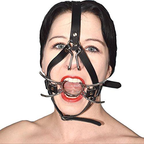 Verschließbares Kopf-Geschirr mit Stacheln und Nasenhaken